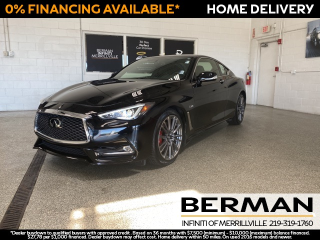 Certified Pre-Owned 2017 INFINITI Q60 Red Sport 400